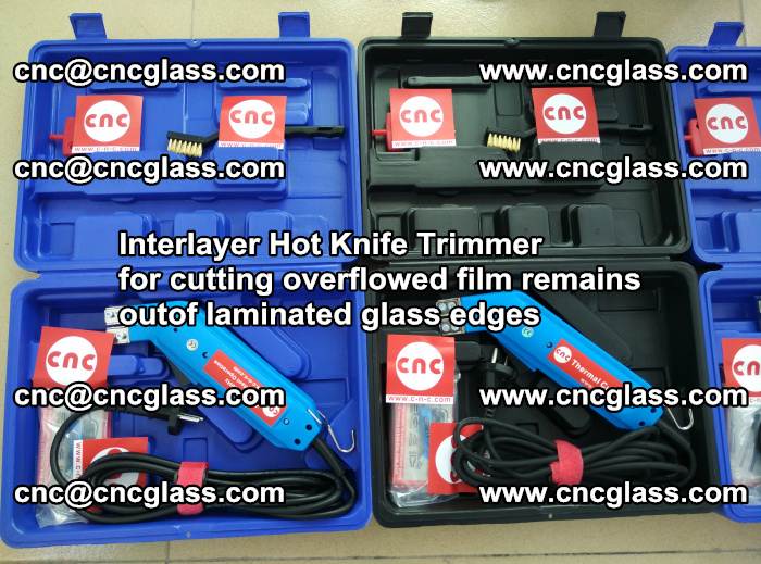 Interlayer Hot Knife Trimmer for cutting overflowed film remains outof laminated glass edges (1)