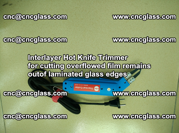 Interlayer Hot Knife Trimmer for cutting overflowed film remains outof laminated glass edges (22)