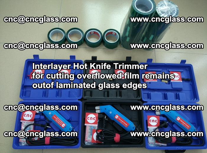 Interlayer Hot Knife Trimmer for cutting overflowed film remains outof laminated glass edges (39)