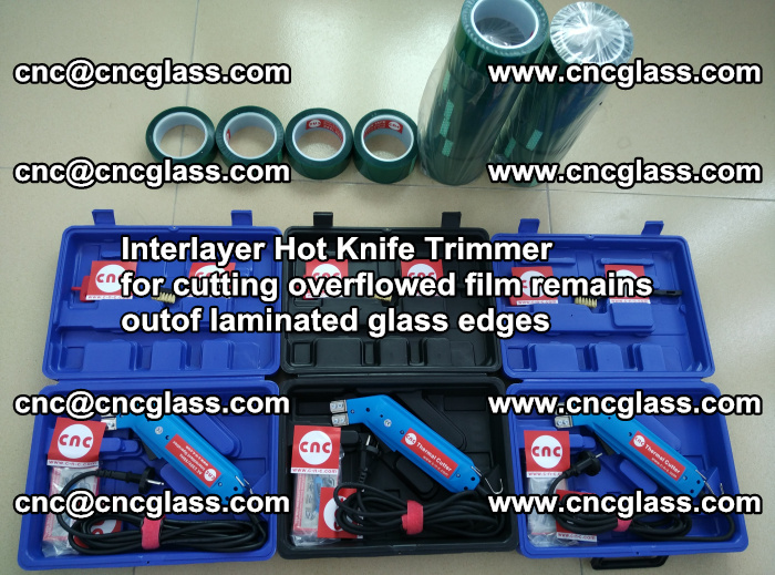 Interlayer Hot Knife Trimmer for cutting overflowed film remains outof laminated glass edges (43)
