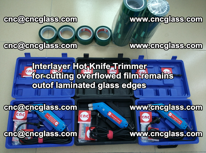 Interlayer Hot Knife Trimmer for cutting overflowed film remains outof laminated glass edges (44)