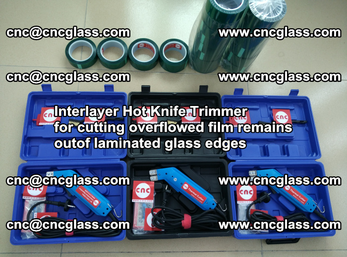 Interlayer Hot Knife Trimmer for cutting overflowed film remains outof laminated glass edges (45)