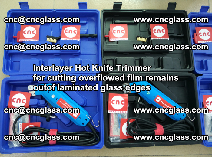 Interlayer Hot Knife Trimmer for cutting overflowed film remains outof laminated glass edges (48)