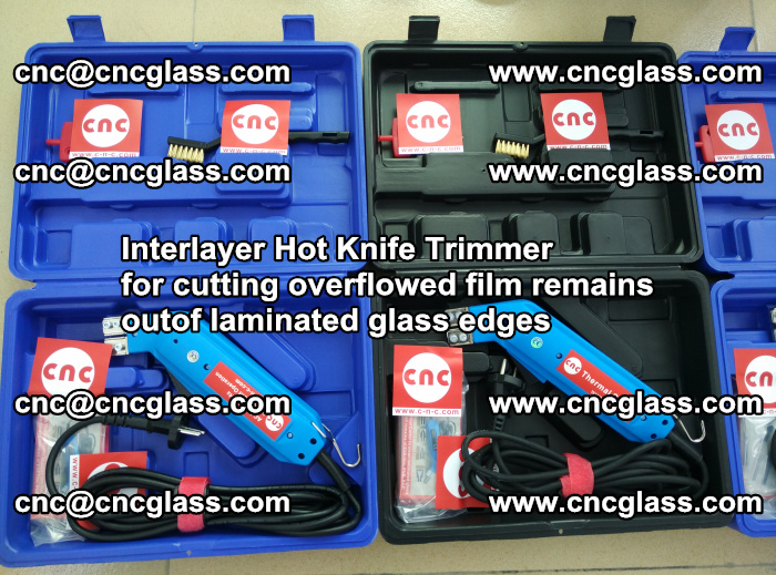 Interlayer Hot Knife Trimmer for cutting overflowed film remains outof laminated glass edges (49)